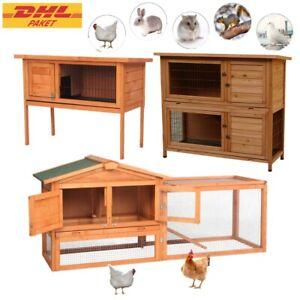 Holz Hühnerkäfig Hühnerstall Hasenstall Auslauf Käfig Kleintierstall Nagerkäfig