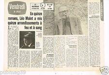 Coupure de presse Clipping 1979 (2 pages) Léo Malet