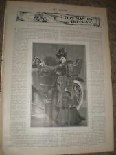 Printed photo Lady Maud Warrender and her motor car 1903 ref Z