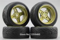1/10 Rc Wheels & Tires for Tamiya tt01 tt02 tt01e m06 m05 m03 Hpi Rs4 Sprint2