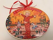 Mary Engelbreit Wood Christmas Ornament I Love Christmas