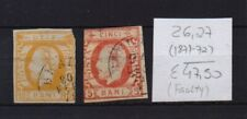 ! Romania  1871-1872. Faulty  Stamp. YT#26,27 . €47.50 !