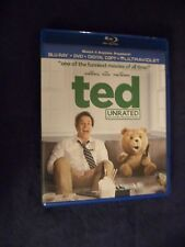 Ted (Blu-ray Disc + DVD, 2012, 2-Disc Set, Unrated) No Digital Copy Funny Movie