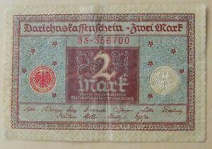 German banknote 2 mark dated 1920