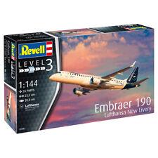 "Revell Embraer 190 ""Lufthansa New Livery"" Plane Model Kit - Scale 1:144 - 03883"