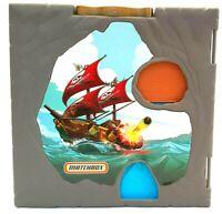 Mattel Matchbox Pop Up Pirate Ship Adventure Play Set 360 Portable Case 2006