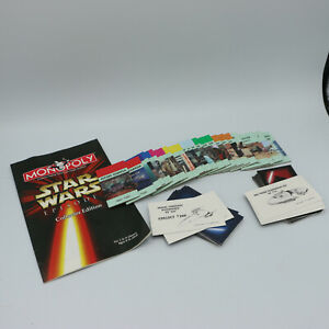 32 Jedi Sith Cards 25 Property Instructions 1999 Star Wars I Collector Monopoly
