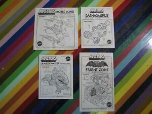 vtg 1980s MOTU He-Man ephemera - toy instruction manuals