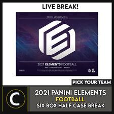2021 Caja de 6 de fútbol PANINI ELEMENTS (mitad Case) romper #F775 - Elige Tu Equipo