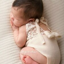 Newborn Photography Prop Baby Stretch Lace Props Romper Knit Dainty Romper New