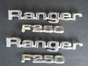 1983 Ford Ranger F 250 Emblems