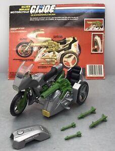 GI Joe Vintage Vehicle - Silver Mirage Motorcycle - Complete  1985