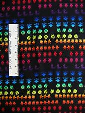 Games Fabric - Arcade Video Game Alien Stripe C2408 - Timeless Treasures YARD