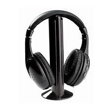 Cascos auriculares inalambricos sin cable con radio 5 en 1 microfono play TV