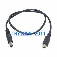 Mini Usb 5 Pin Male To 5.5 x 2.1mm male Dc Power Converter Charger Cable 40cm