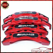Full Set Red AMG Brake Caliper Cover Covers Universal Disc Racing Front Rear