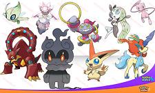Perfecto IV evento marshadow VOLCANION HOOPA Mew + más! Pokemon Sun Moon no brillante