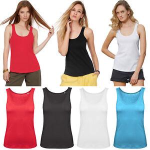 Ladies Vest Women Tank Top Sleeveless Casual 100% Cotton Plain Comfort Girls Top