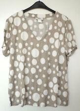 Camisas y tops de mujer de manga corta color principal multicolor de viscosa/rayón