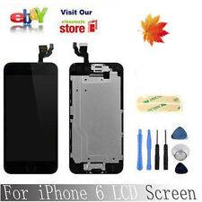 Black LCD screen Display Complete Digitizer Home Button& Camera for iPhone6 4.7""
