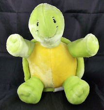 LITTLE MIRACLES Costco Green Yellow Turtle Plush Stuffed Animal Baby Toy 10""