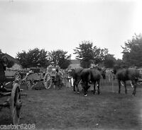Camp Cavalry Photo Finxixe Plate Glass Stereo Negative Light 2 3/8x5 1/8in