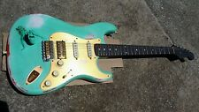 Custom Strat Relic Sea Foam Green TV Jones Solid Rosewood Neck Stratocaster