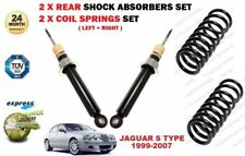 FOR JAGUAR S TYPE 1999-2007 2X REAR AXLE SHOCK ABSORBER SET AND 2X COIL SPRINGS