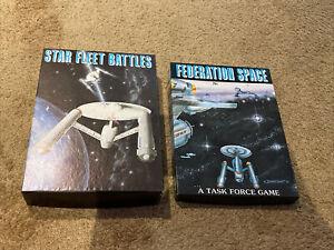 Star Fleet Battles & Federation Space Task Force Game Lot Vintage Board Game