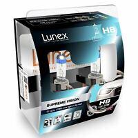 Lunex Supreme Vision H8 Car Headlight Bulb 3700K (Twin)