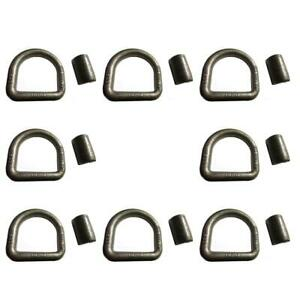 """8pk 5/8"""" Heavy Duty Weld-On Forged D Ring 18,000 Lbs"""