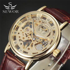 SEWOR Brand Skeleton Mechanical Watch Men Luxury Fashion Relogio Masculino Reloj