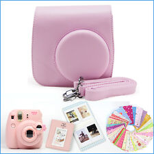 Gmatrix 4 in 1 Fujifilm Instax Mini 8 Case Bag Accessory Bundle Best Gift Pink