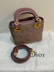 Dior Lady Dior Micro - Suede - Pink