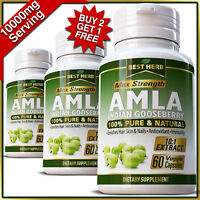AMLA Capsules Organic Best Indian Gooseberry Fuller Growth Vitamins Healthy Hair