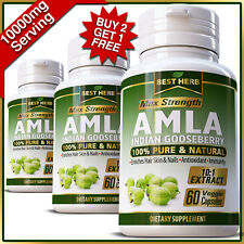 AMLA Capsules Organic Indian Gooseberry HIGH VITAMIN C ANTIOXIDANT BOOST PILLS