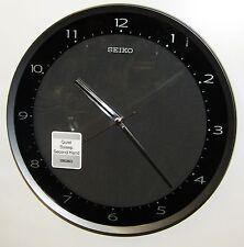 SEIKO BLACK METTALIC CASE  WALL CLOCK W/ QUIET SWEEP SECOND  QXA393JLH