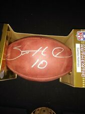 """Santinio Holmes Steelers 2009 Sb Mvp """"The Duke� Official Nfl Game Football sign"""