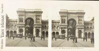 Italia Milan La Galerie Victor Emmanuel, Foto Stereo Vintage Analogica PL62L11