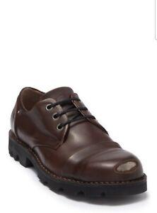 DIESEL HardKor Low Steel Toe Derby Brown Leather Size EURO 43.