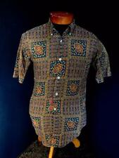 Very Rare Vintage 1950'S-1960'S Classic Print Button Down Cotton Shirt Small