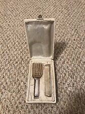 Antique Sterling Silver comb  and Brush  Dresser  set 2 pieces