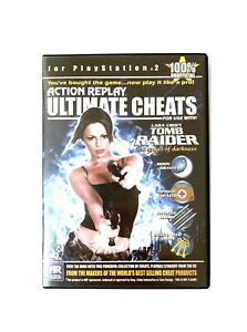 Action Replay Ultimate Cheats For Tomb Raider Playstation 2  PS2 Game Rare