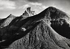 1937/63 Vintage 11x14 New Mexico MUD HILLS Landscape Photo Gravure ~ ANSEL ADAMS