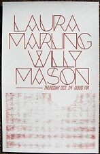 LAURA MARLING / WILLY MASON 2013 Gig POSTER Portland Oregon Concert