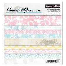 """Teresa Collins #SA1017  """"Sweet Afternoon""""  6x6 Designer Paper Pad  24  Sheets"""