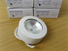 Lot of 4, Halolite White Under Shelf Cabinet Kitchen G4 Halogen Light Fitting