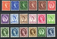 GB 1955 SG540-556 St Edward crown watermark mounted mint set stamps cat £160