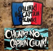 CHUNK NO CAPTAIN CHUNK Pardon My French Ltd Ed RARE Stickers +FREE Punk Stickers