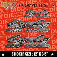 4x4 FX4 Offroad red orange Truck Decal Sticker COMPLETE SET 029